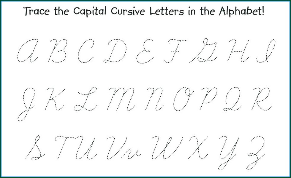 Printable Cursive Writing Guide Pdf