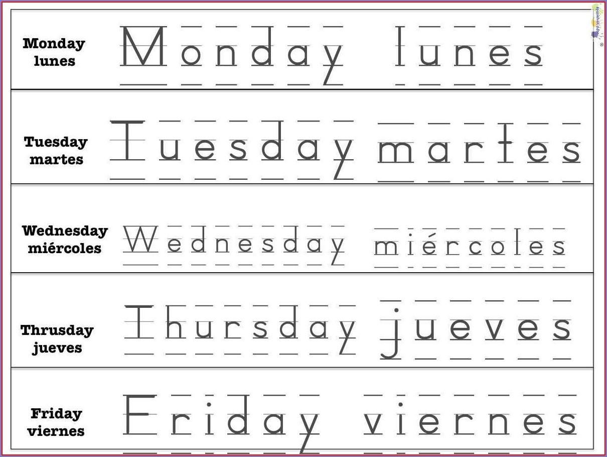 Printable Days Of The Week Preschool Activities