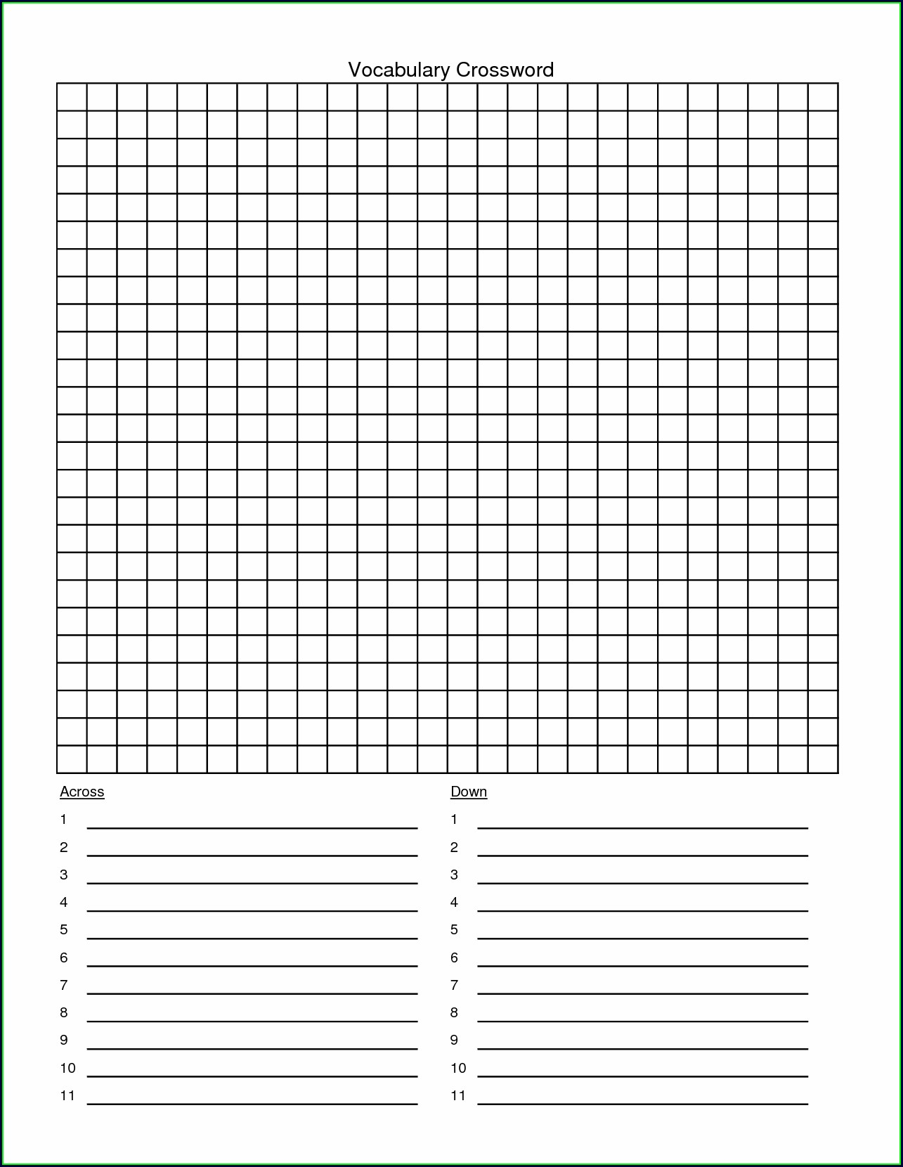 Printable Empty Word Search Grid