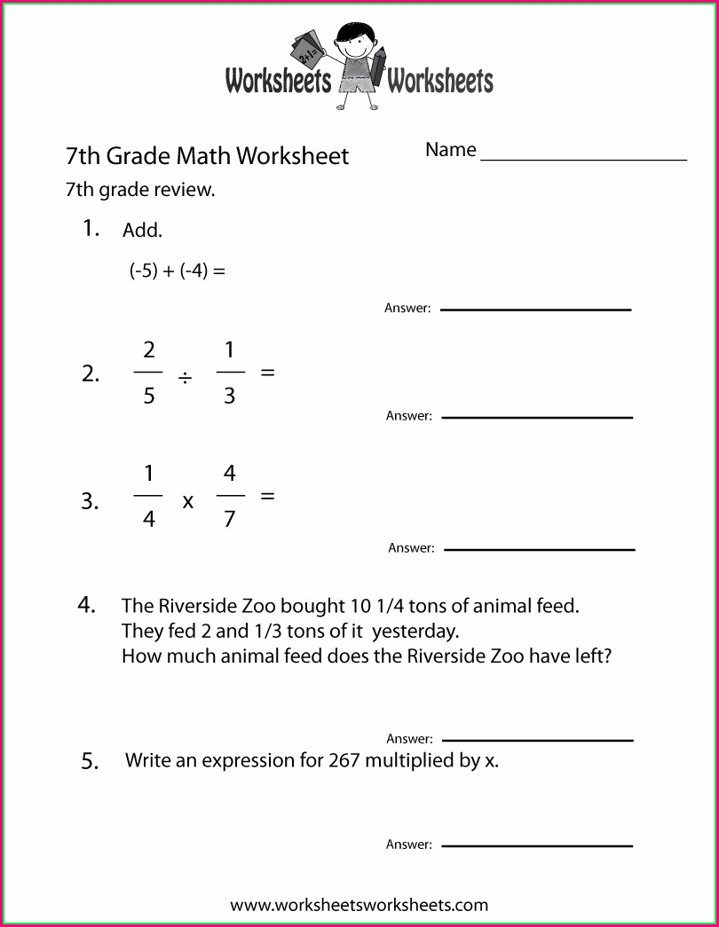 Printable Free 8th Grade Math Worksheets