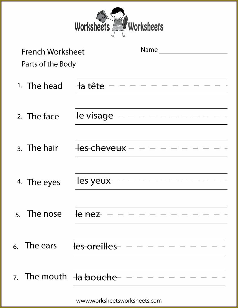 Printable French Numbers Worksheet Pdf