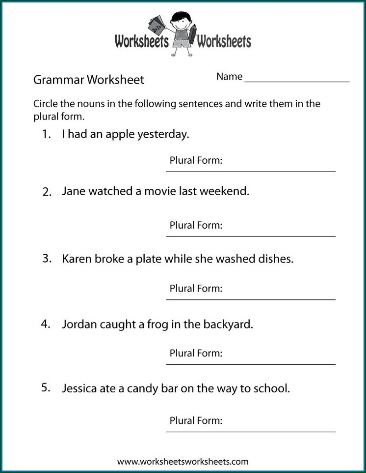 Printable Grade 3 English Worksheets