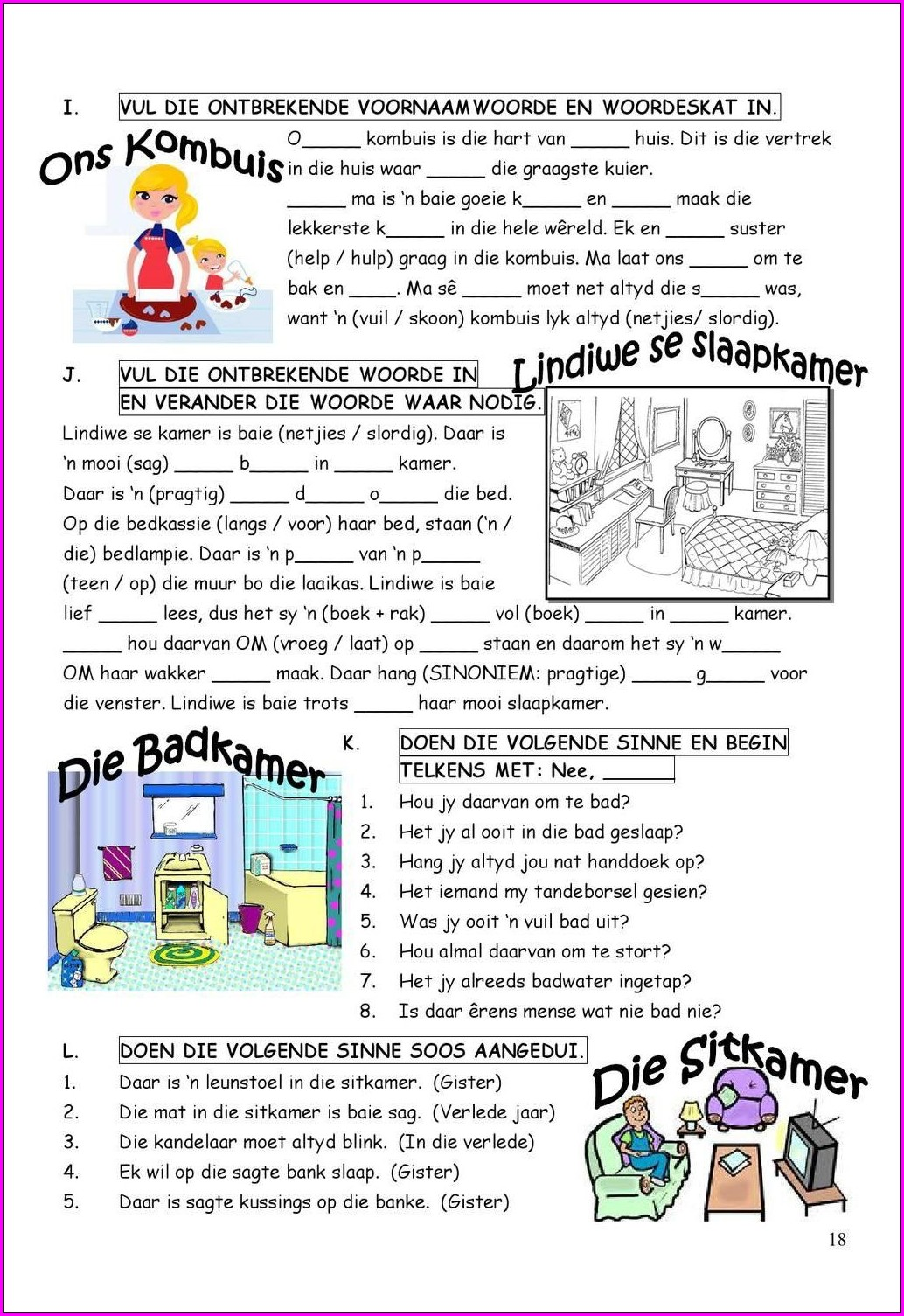 Printable Grade 4 Language Worksheets