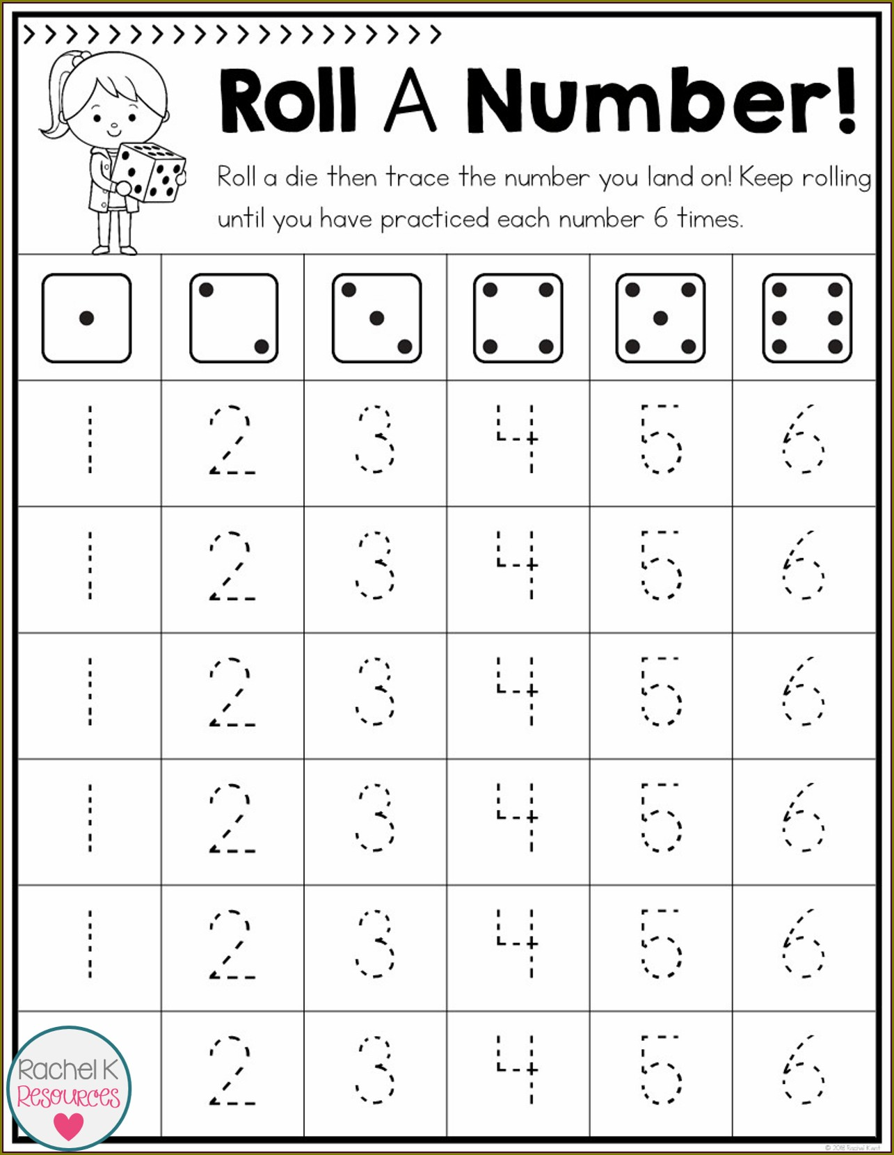 Printable Number 5 Worksheet Preschool