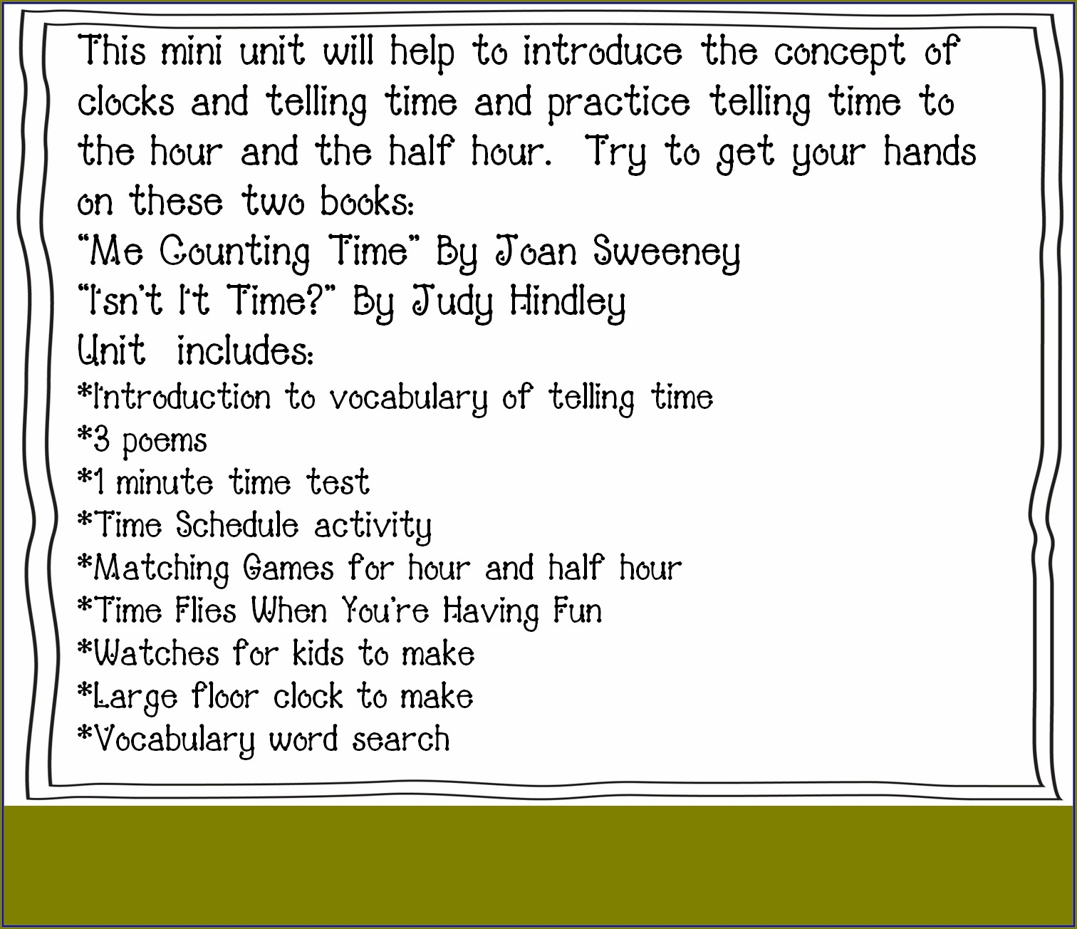 Printable Practice Clock For Telling Time