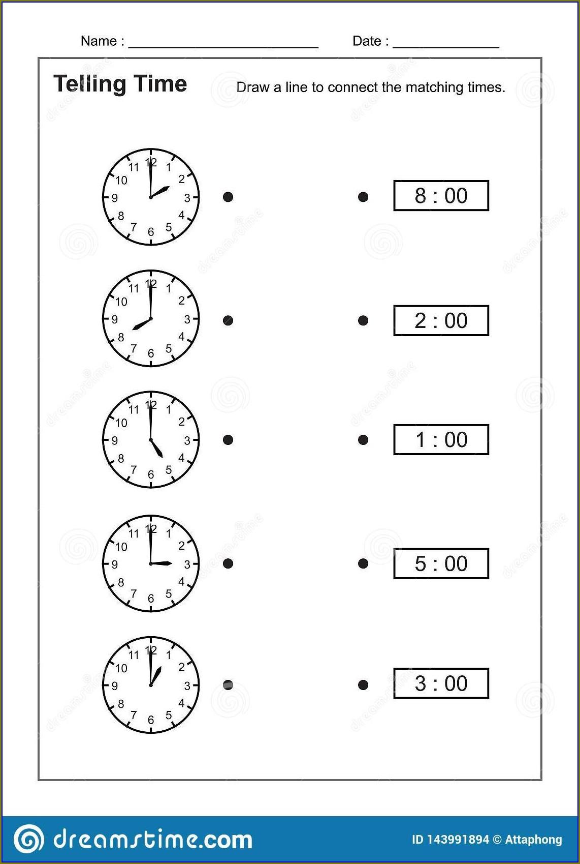 Printable Practice Telling Time
