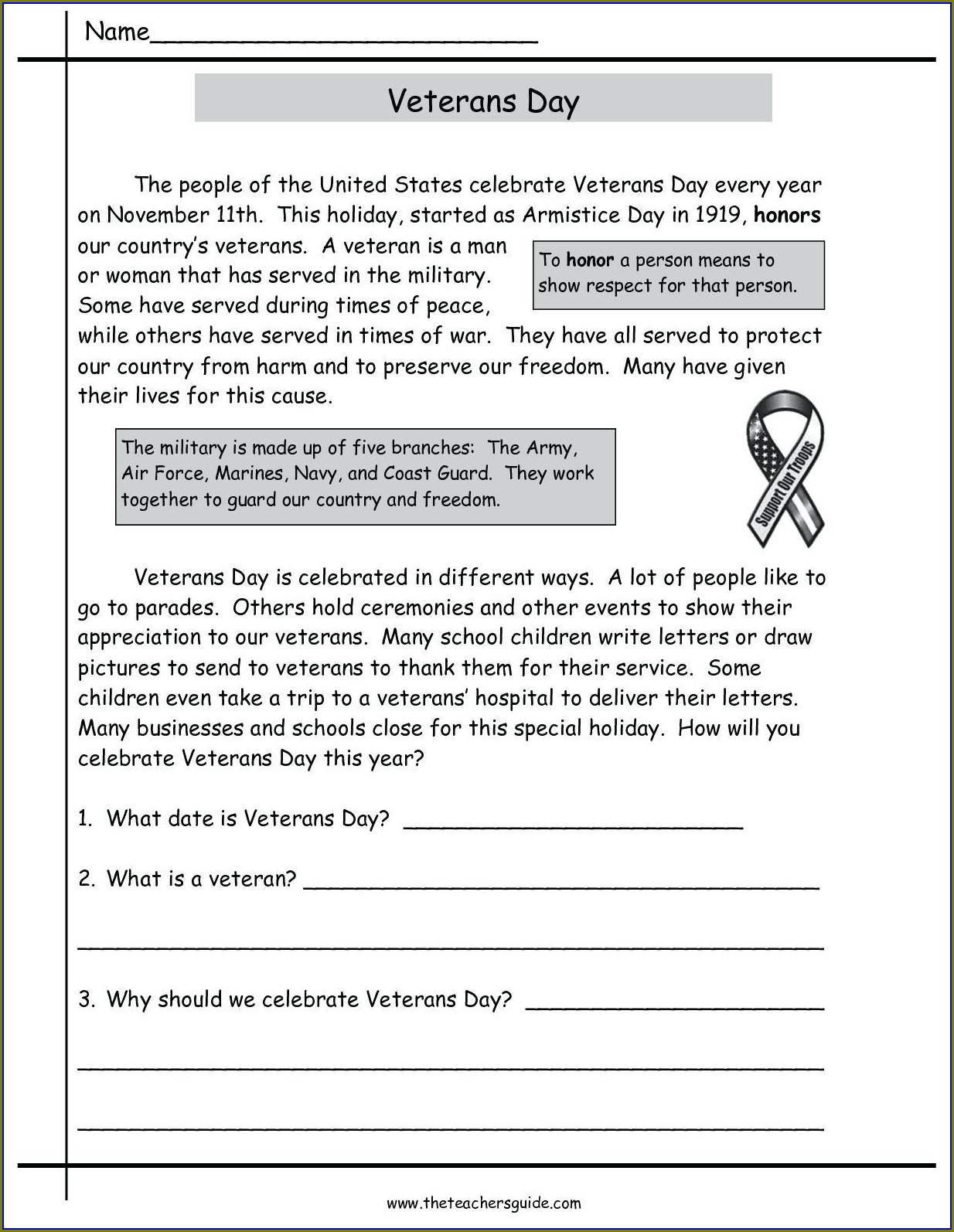 Printable Reading Worksheet 5th Grade