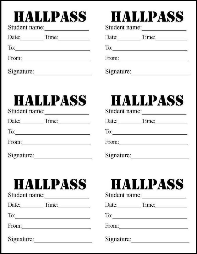 Printable School Nurse Pass Template