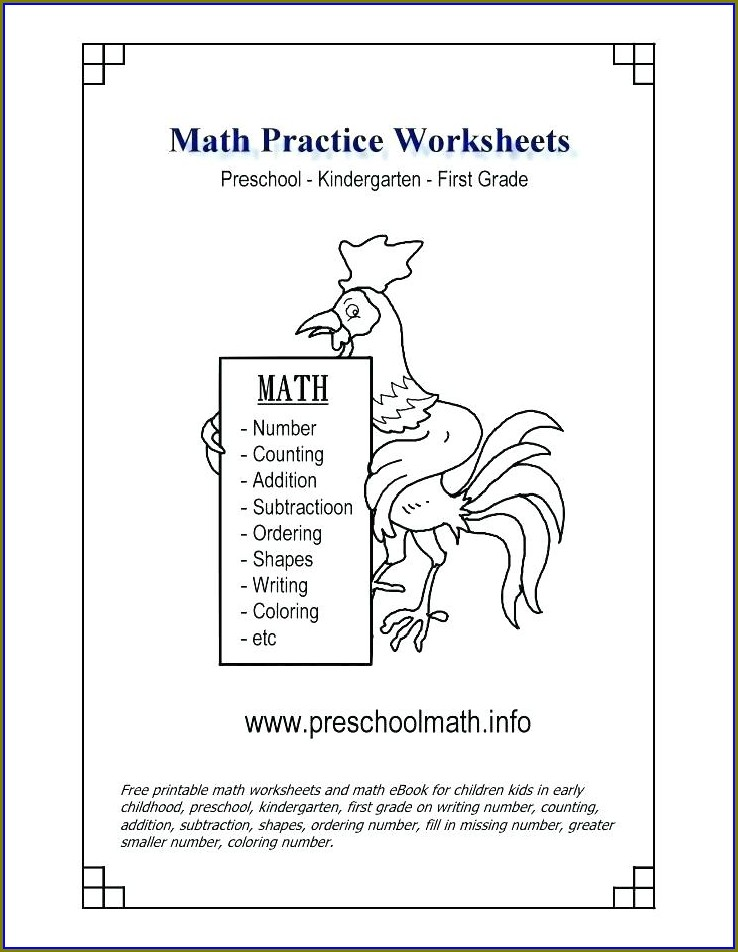 Printable School Worksheets For Kindergarten