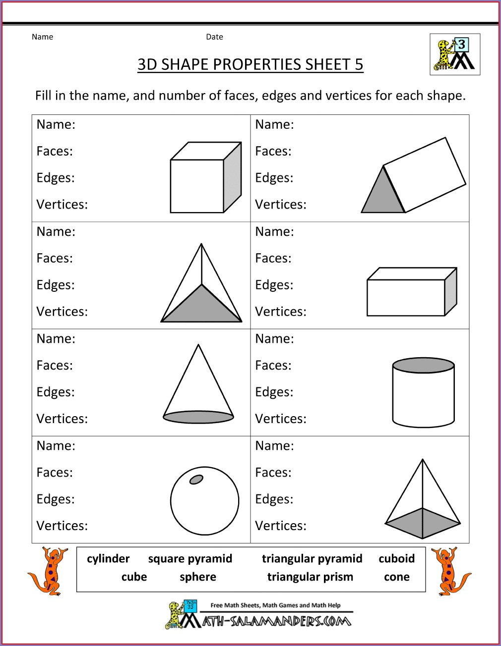 Printable Third Grade 3rd Grade Math Worksheets