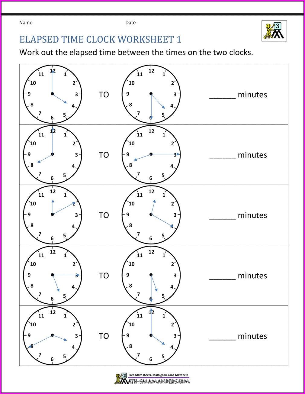 Printable Time Clock Worksheet