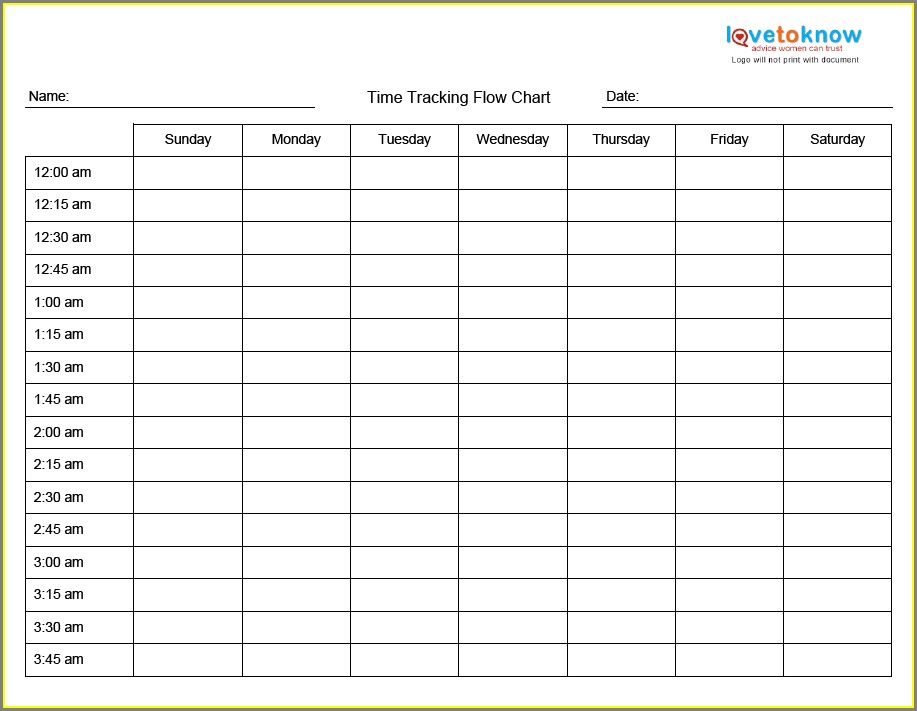 Printable Time Management Worksheets For Adults