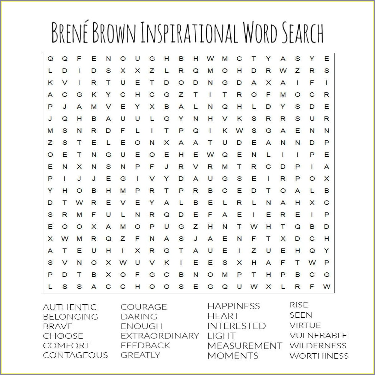 Printable Word Search About Art
