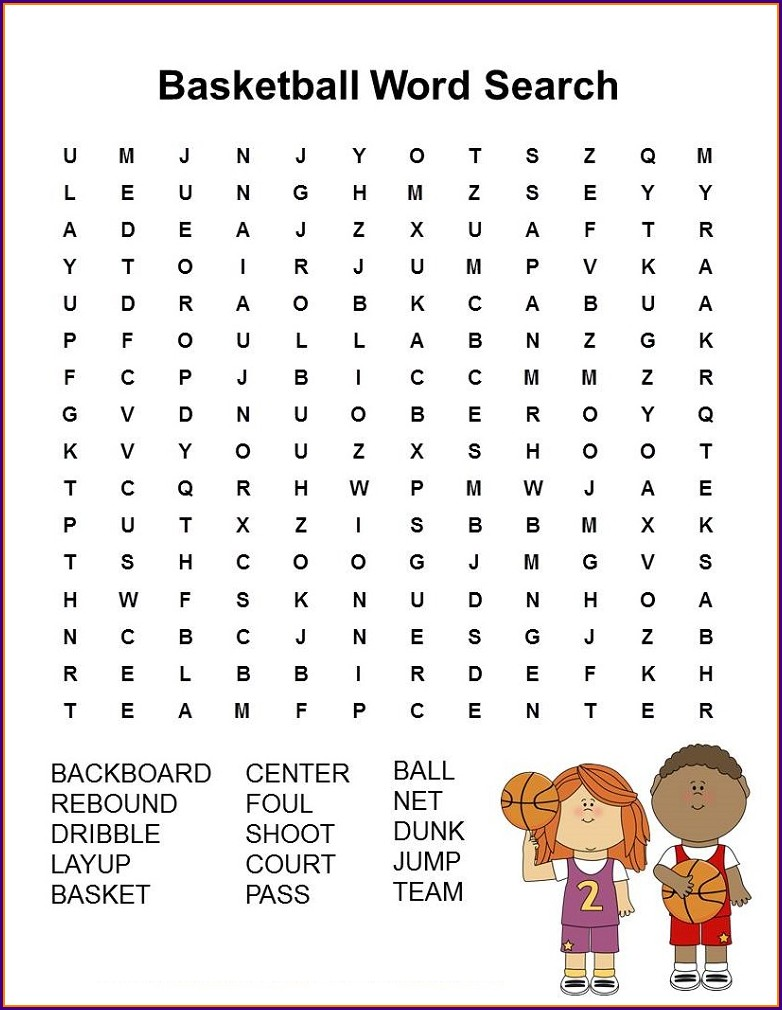 Printable Word Search On Sports
