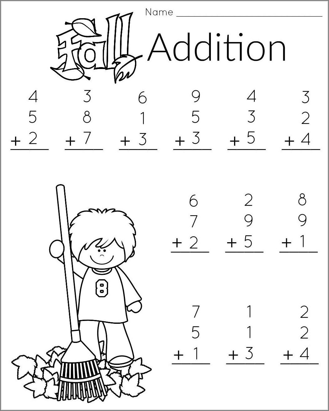 Printable Worksheet For 1st Graders