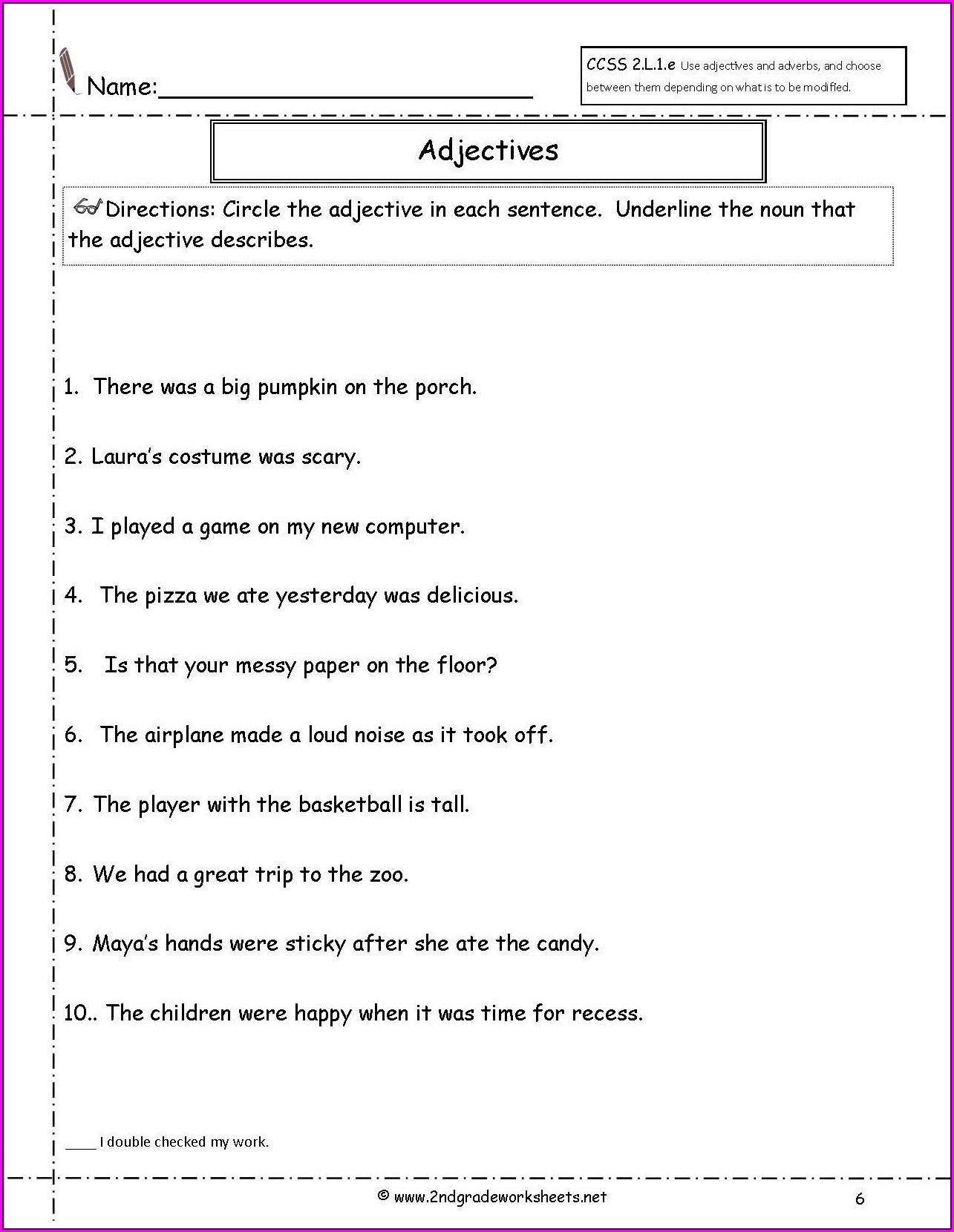 Printable Worksheet For Class 5 English