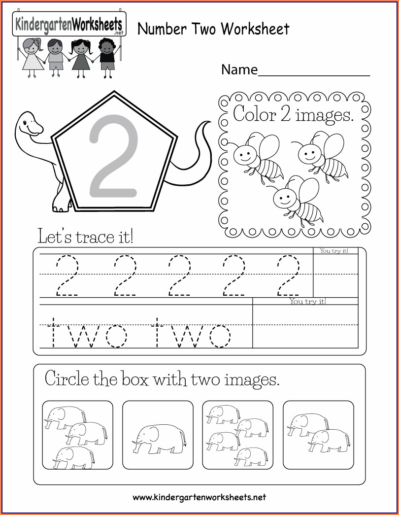 Printable Worksheet For Kindergarten 2