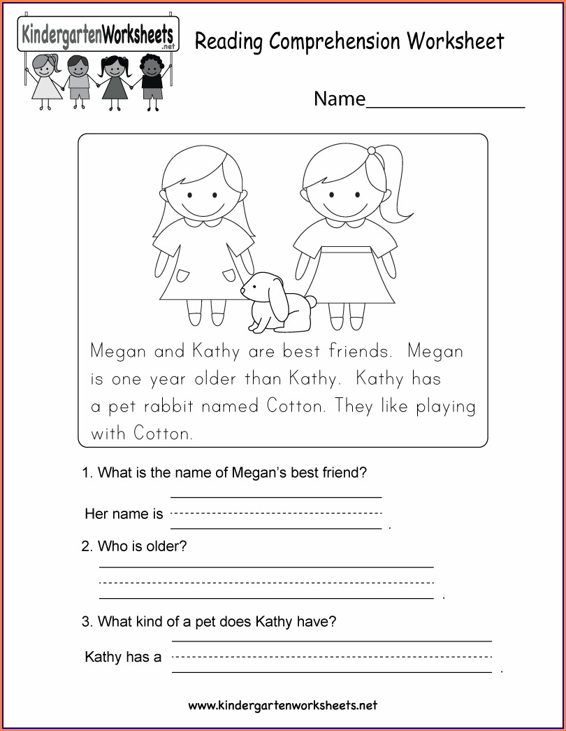 Printable Worksheet For Kindergarten Pdf