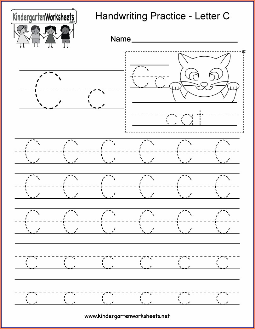 Printable Worksheet For Kindergarten Writing