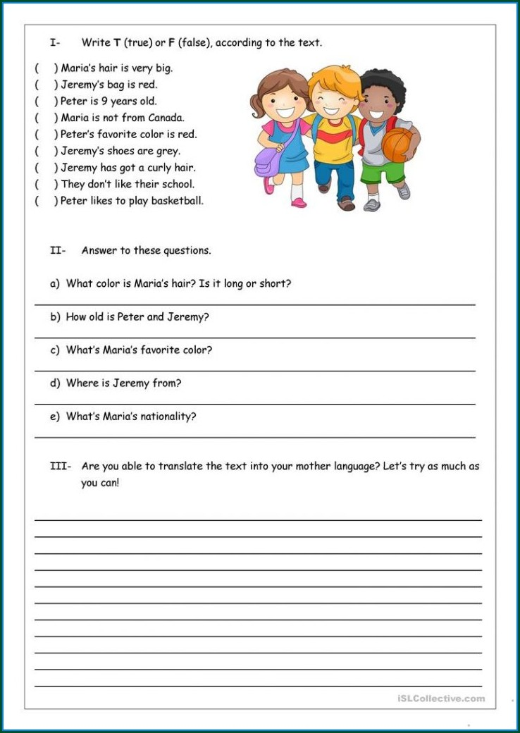 Questioning Reading Strategy Worksheet