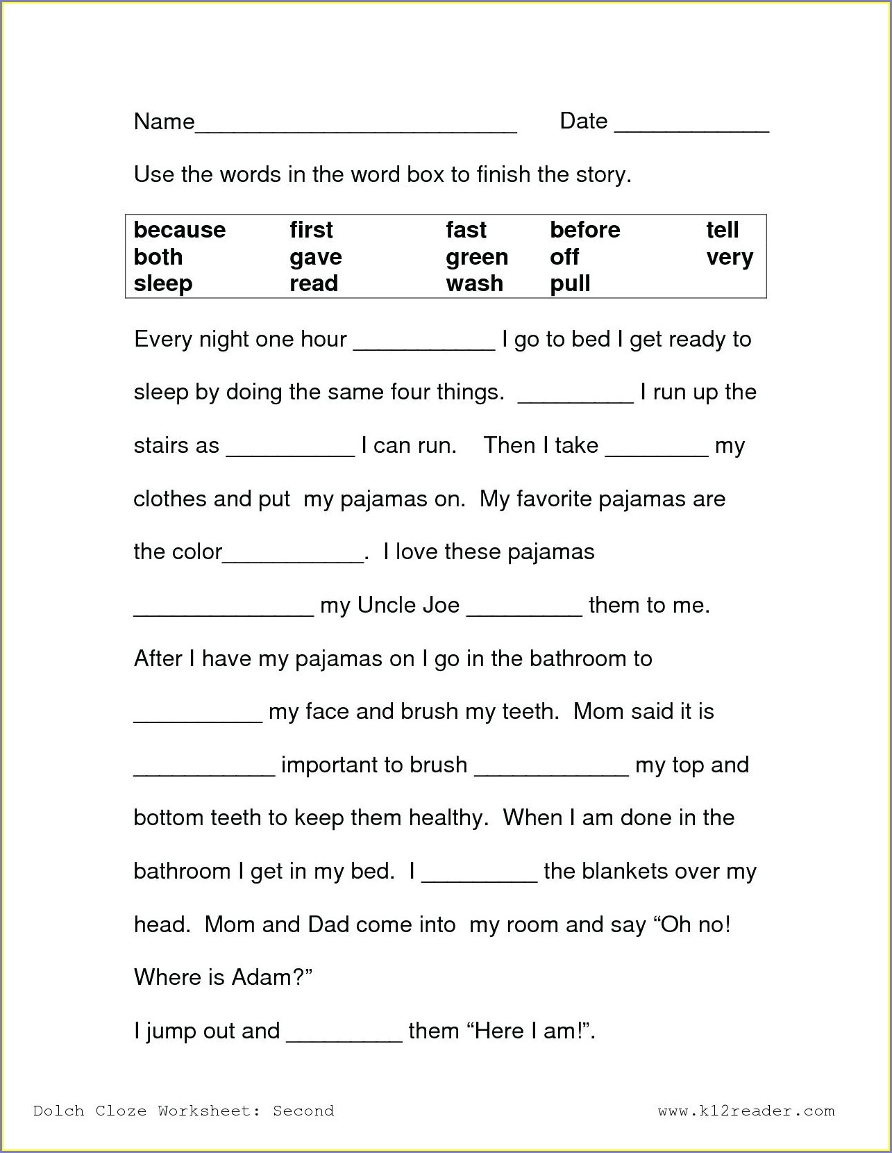 Reading Comprehension First Grade Reading Comprehension Worksheets For 1st Grade