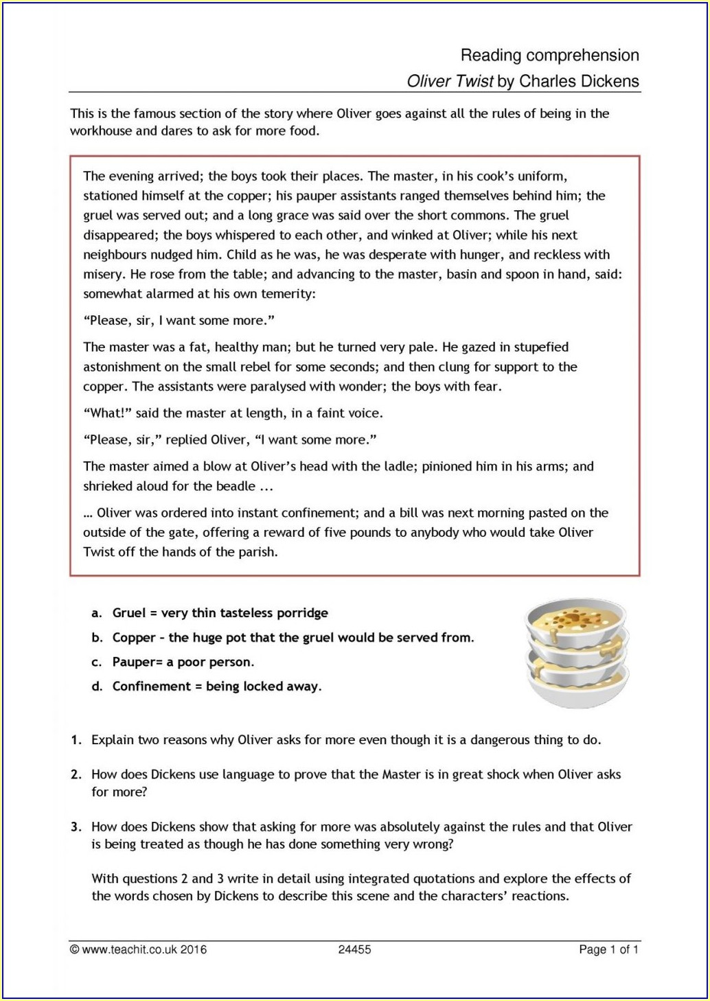 Reading Comprehension Free Printable Worksheets Uk