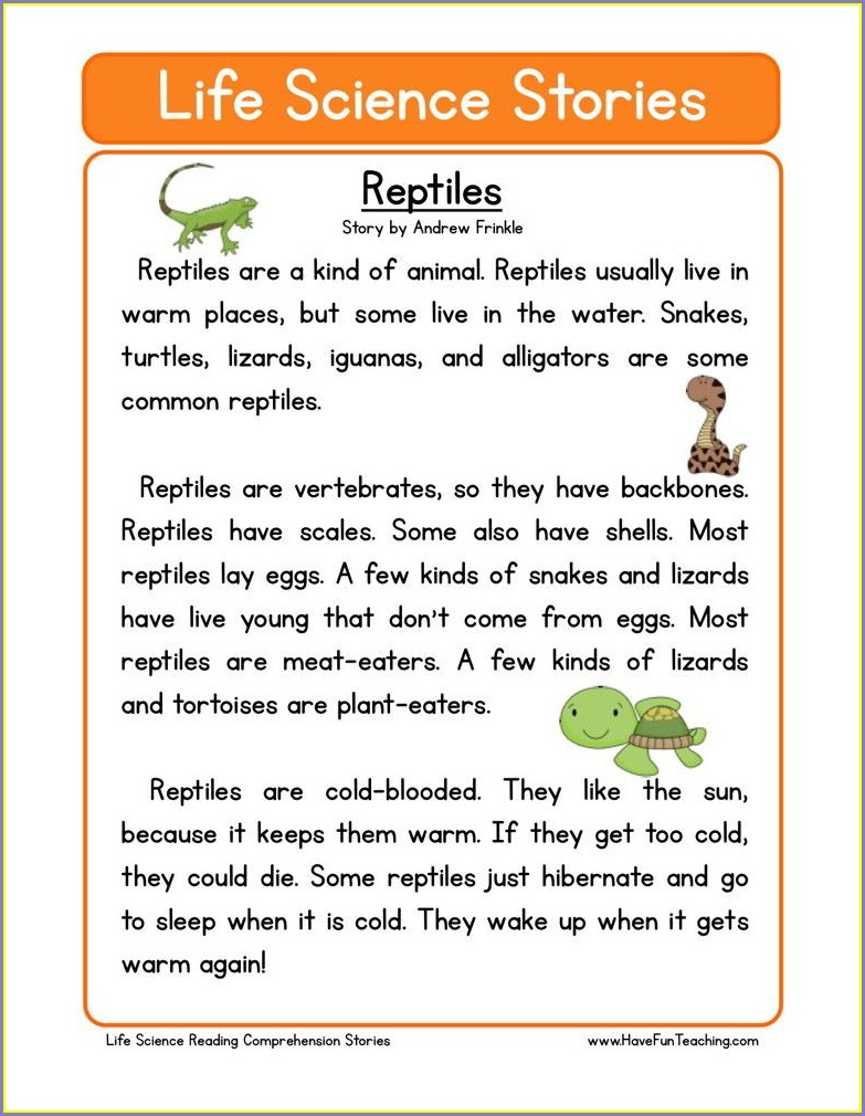 Reading Comprehension Have Fun Teaching Worksheets