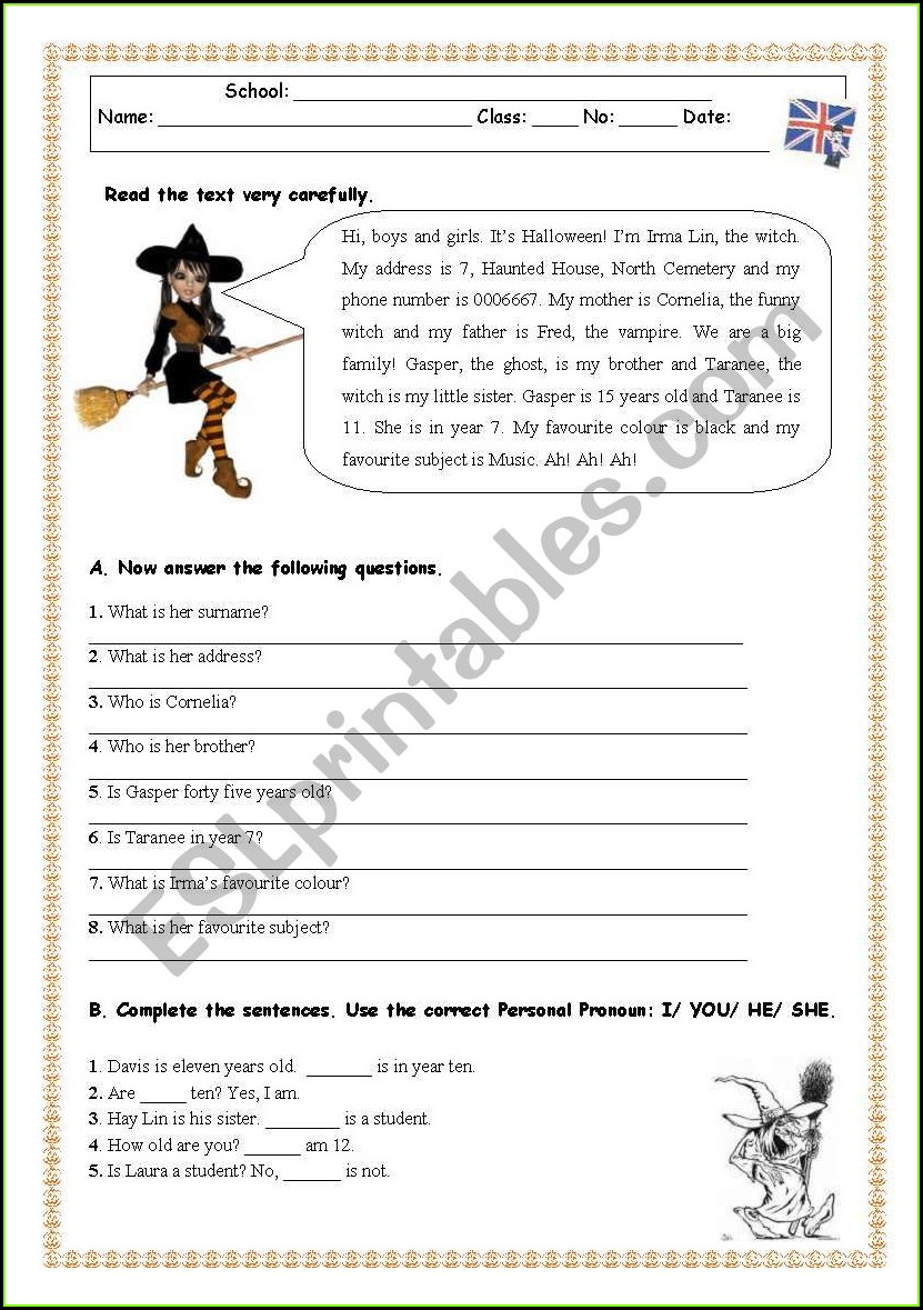 Reading Comprehension Worksheets Grade 6 Pdf