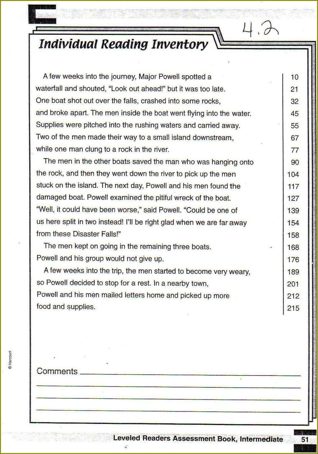 Reading Comprehension Worksheets Level 3