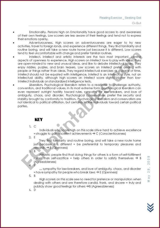 Reading For Details Worksheets