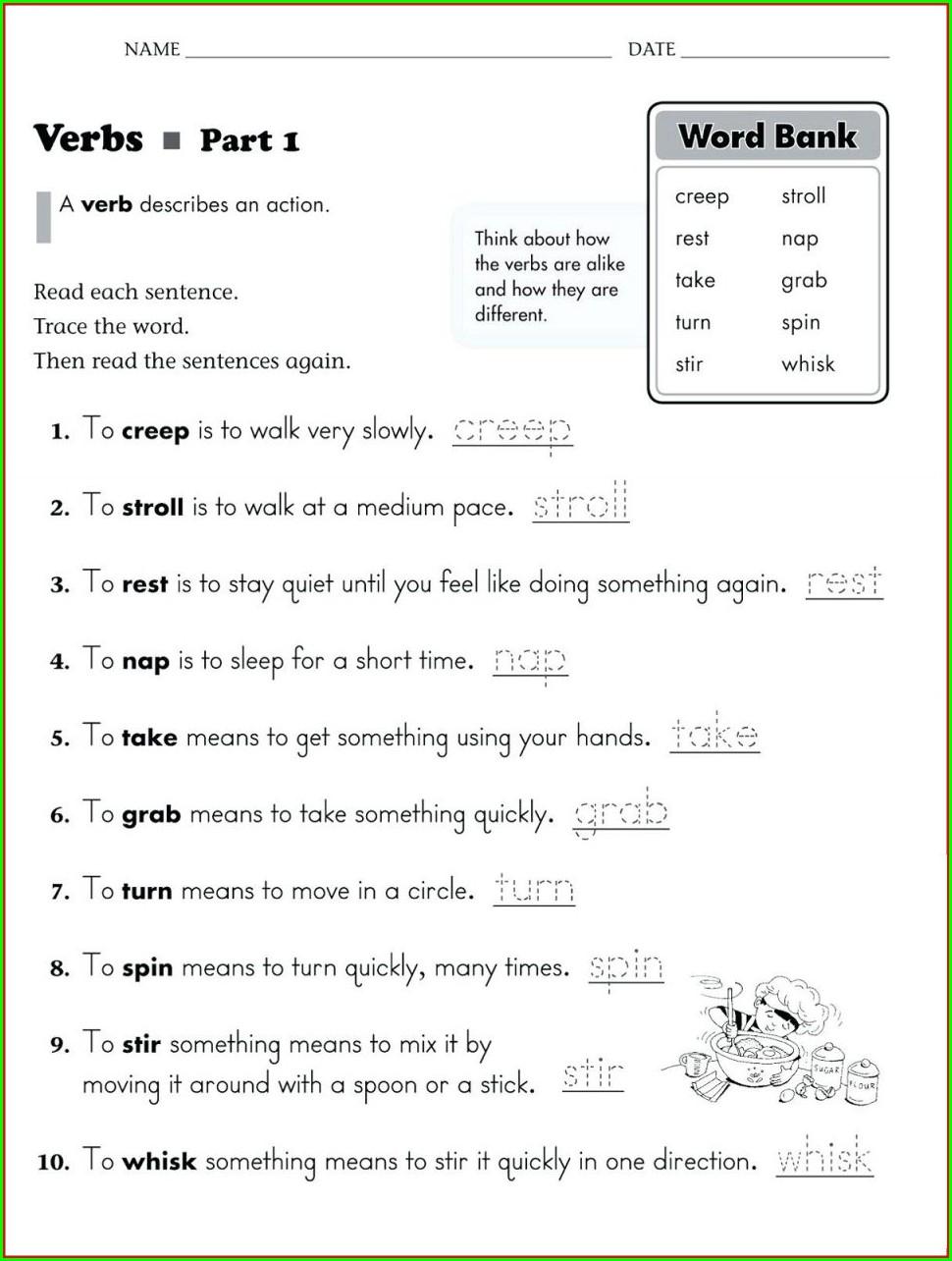 Reading Worksheet For Kinder