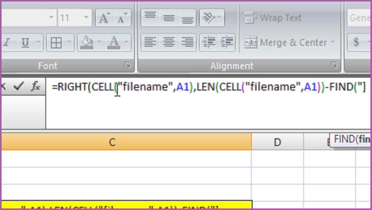 Retrieve Worksheet Name Excel