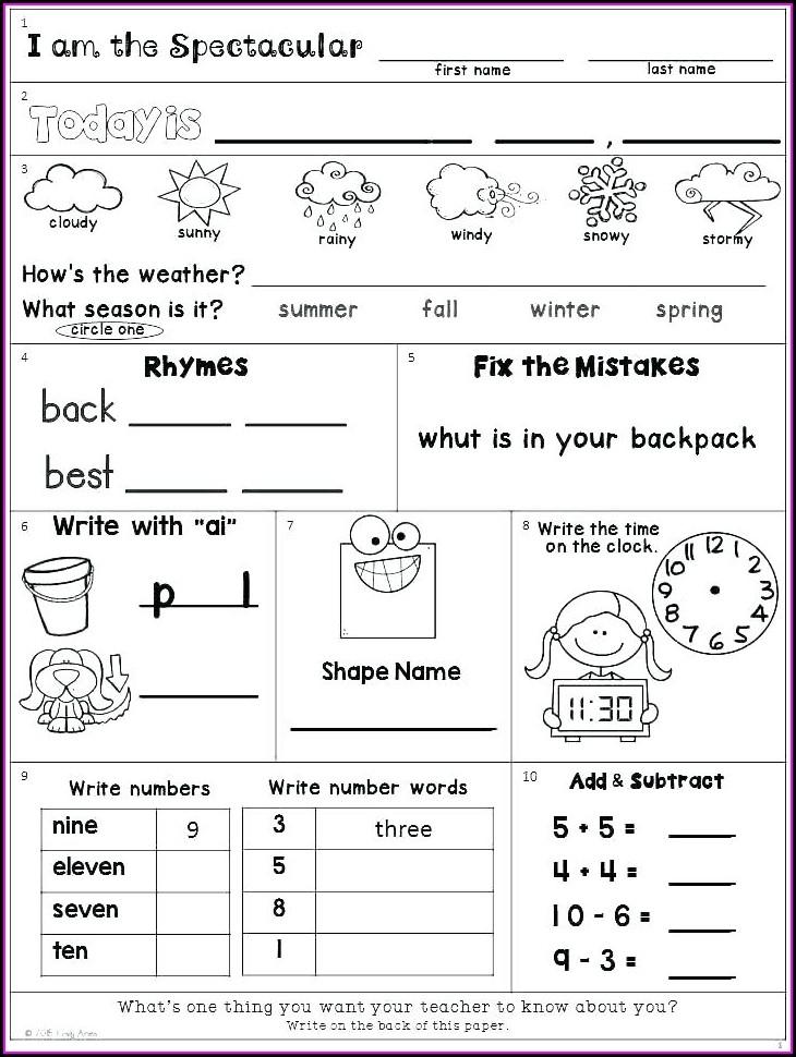 Rhyming Worksheet Second Grade