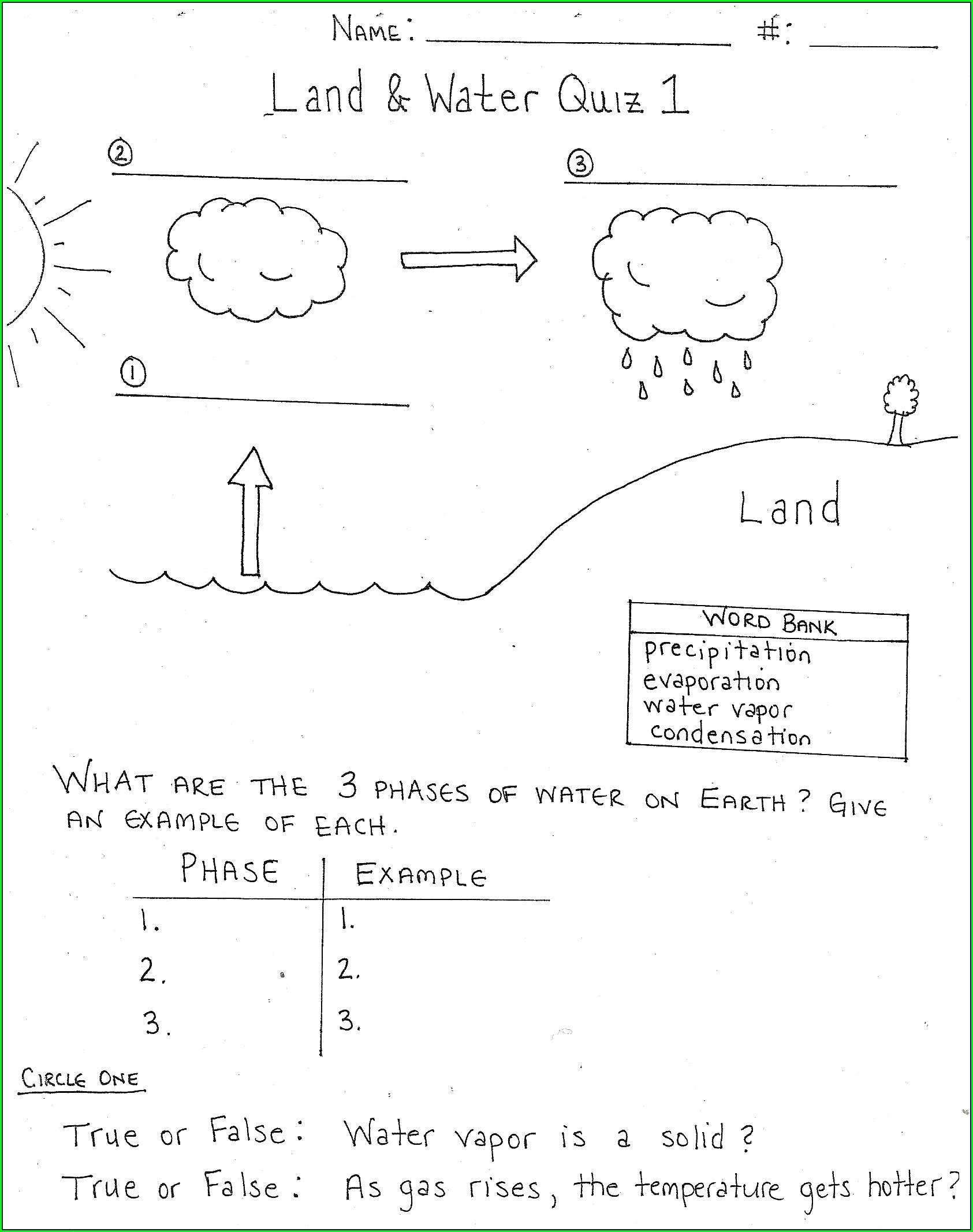 Rock Cycle Worksheet Tes