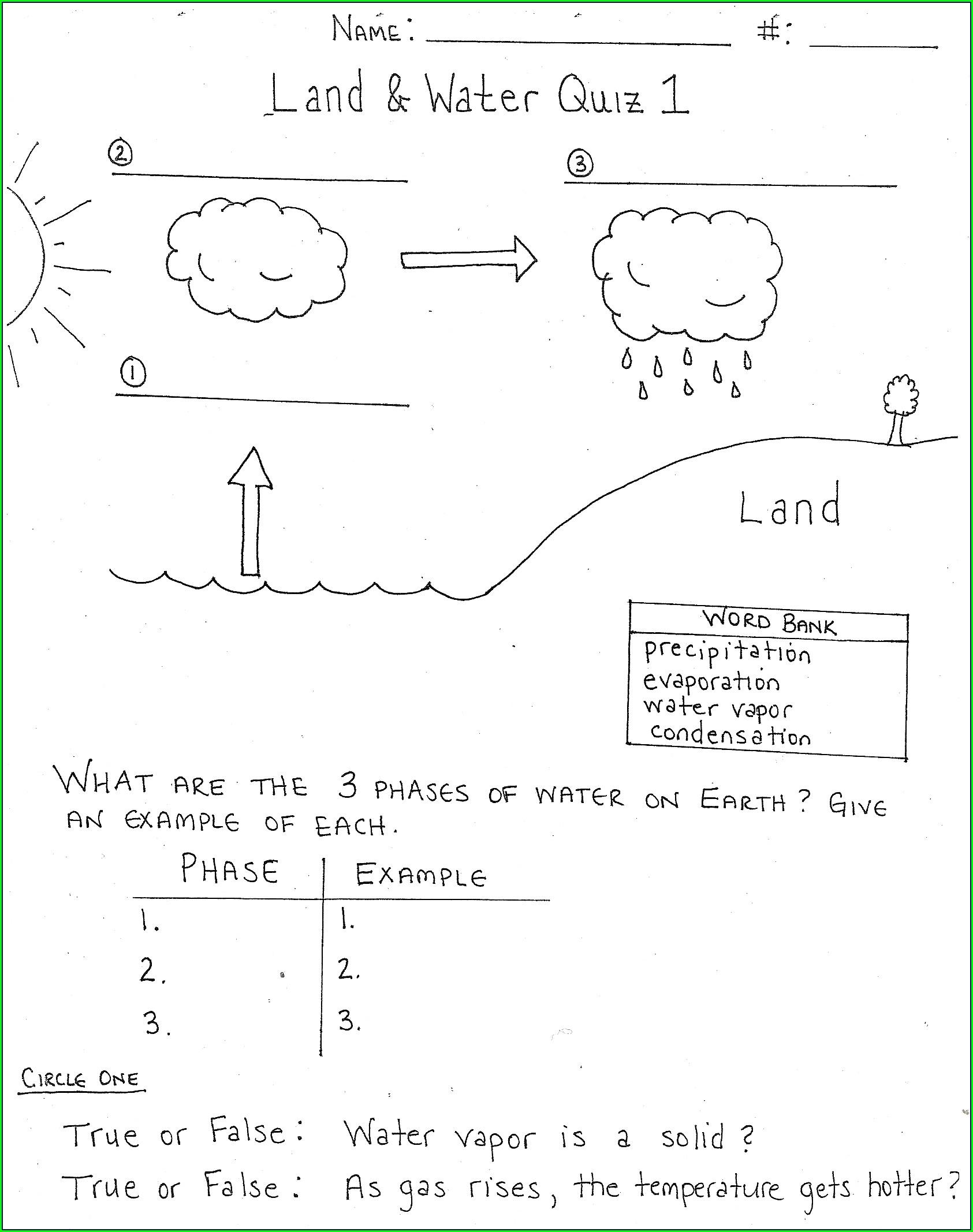 Rock Cycle Worksheet Tes