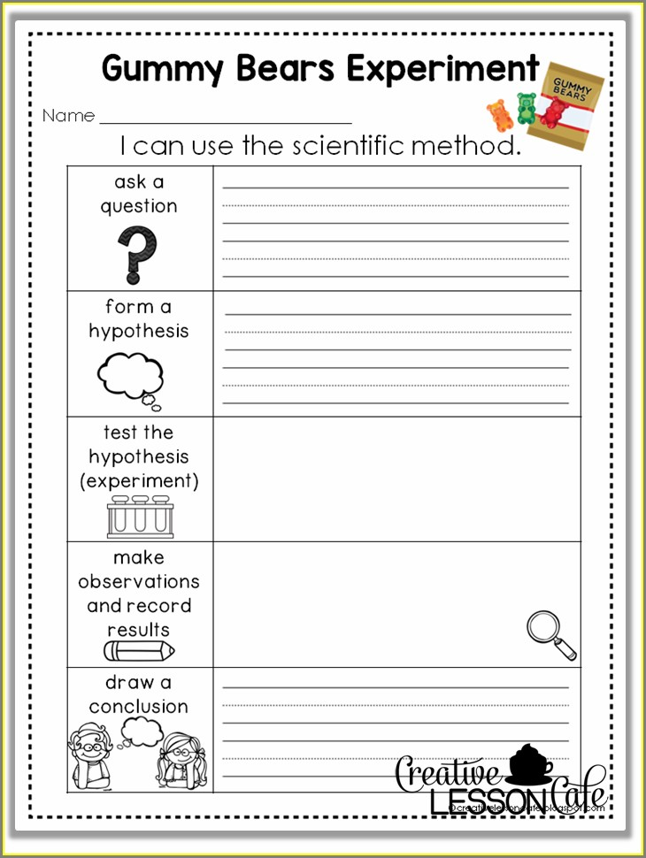 Science Fair Question Worksheet