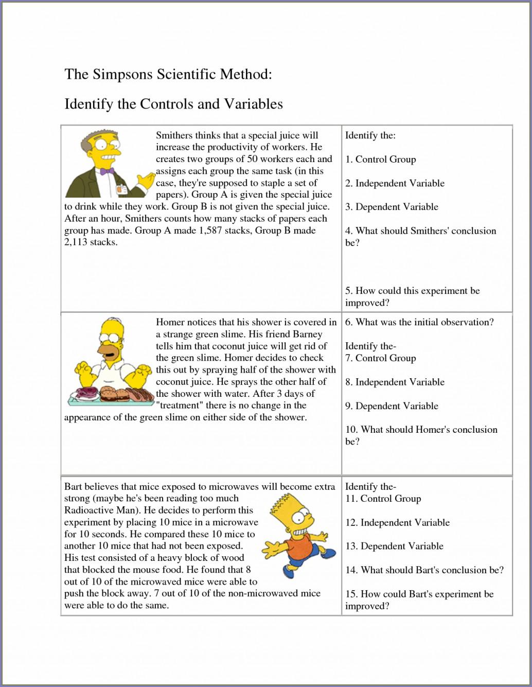Science Method Worksheet Answers