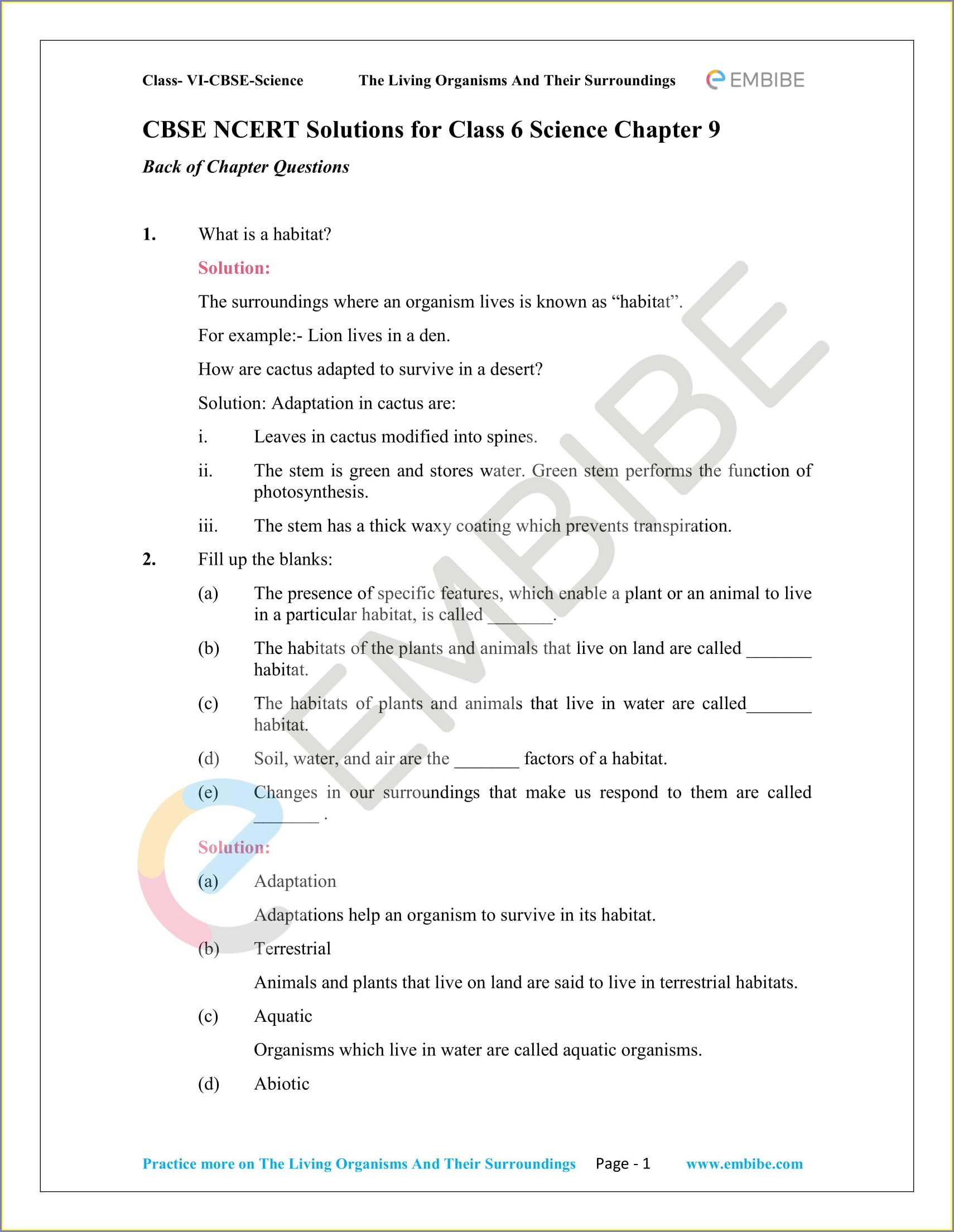 Science Worksheet For Grade 6 Pdf