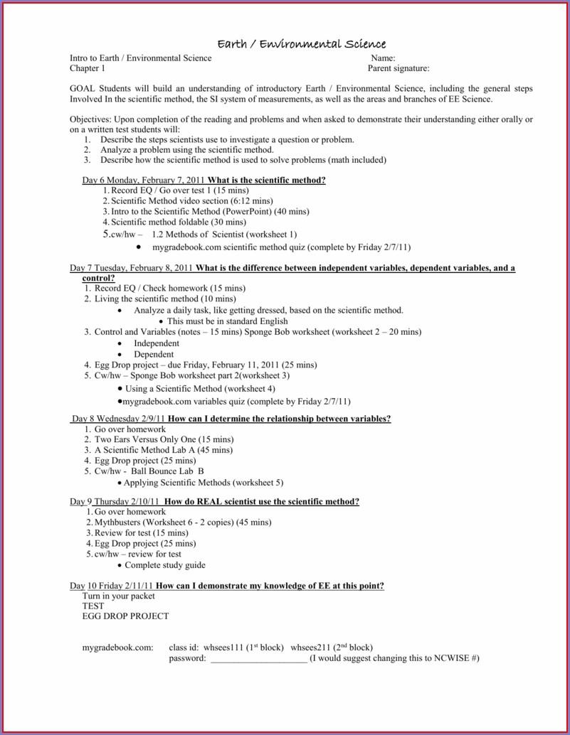 Scientific Method Video Worksheet