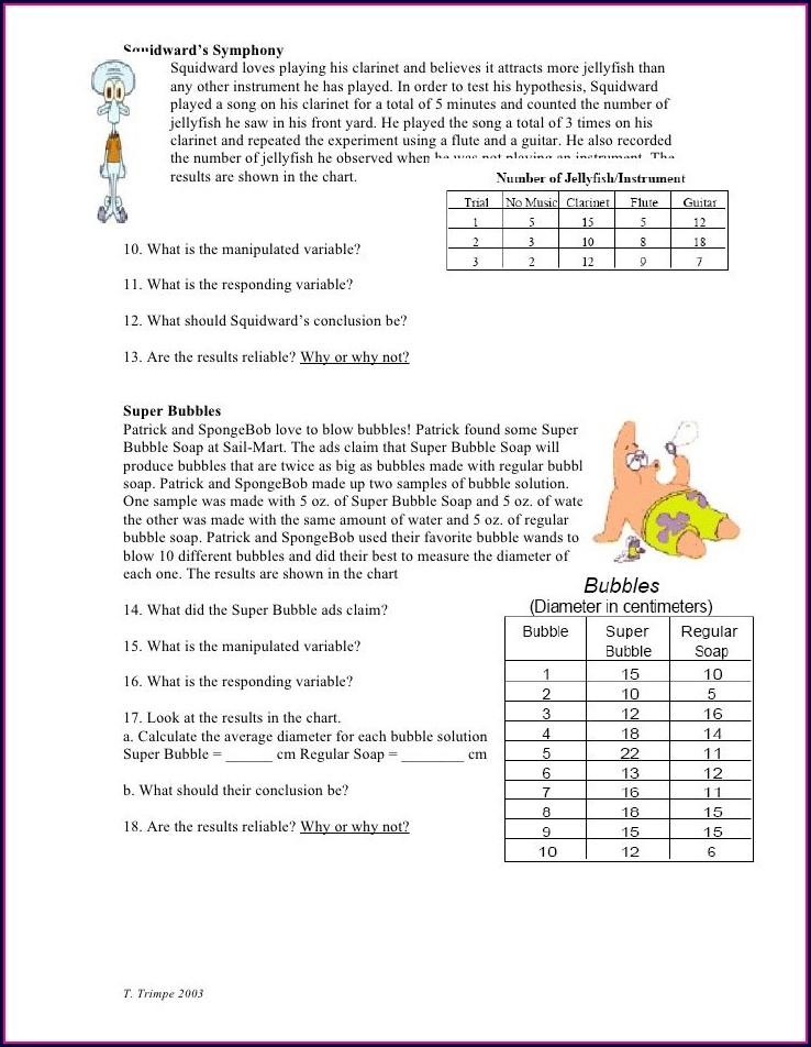 Scientific Method Worksheet Trimpe
