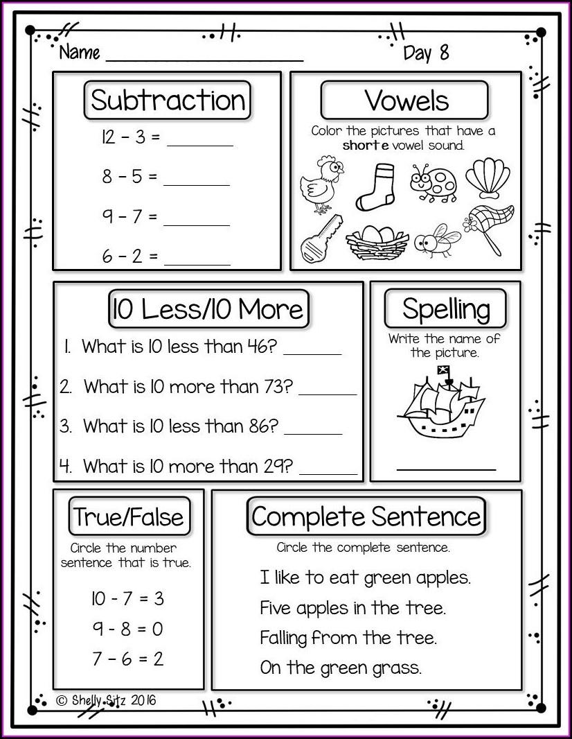 Second Grade 2nd Grade Health Worksheets