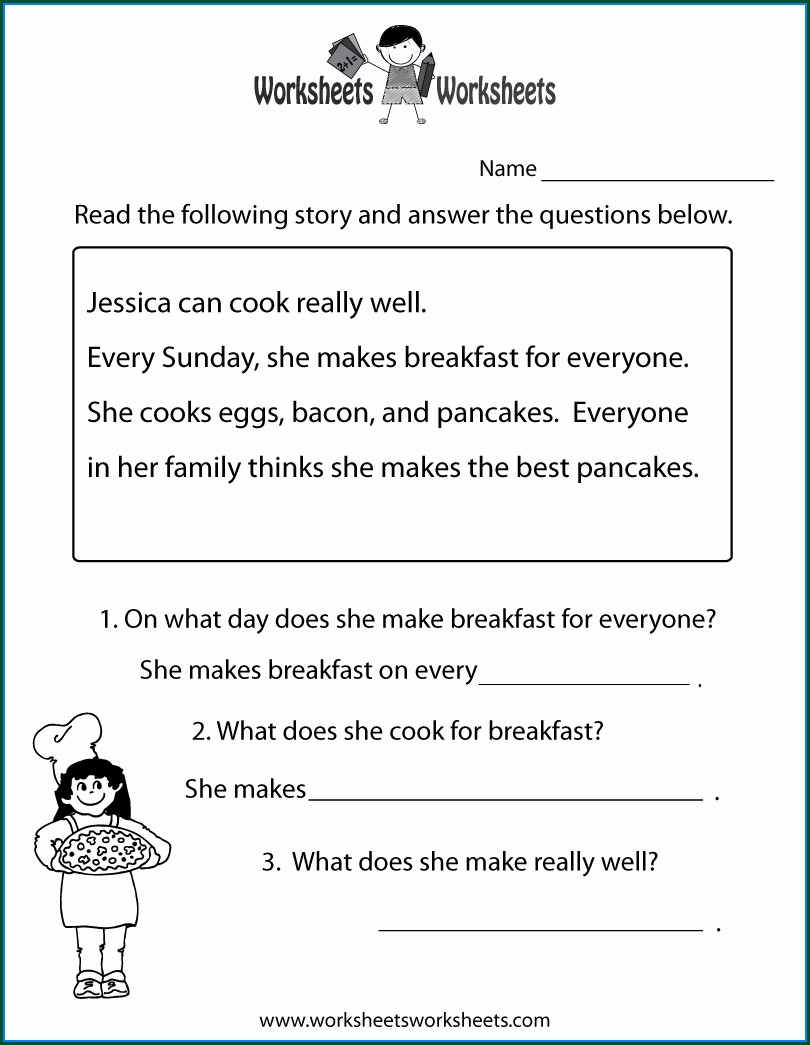 Second Grade 2nd Grade Reading Comprehension Worksheets Pdf