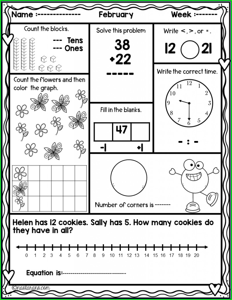 Second Grade Holiday Worksheet