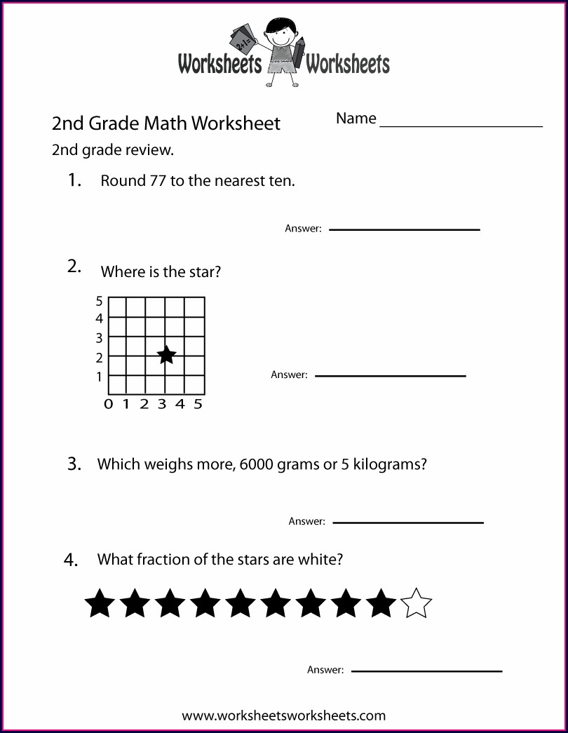 Second Grade Math Worksheet Pdf