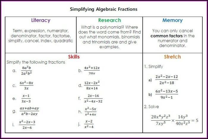 Simplifying Fractions Worksheet Uk