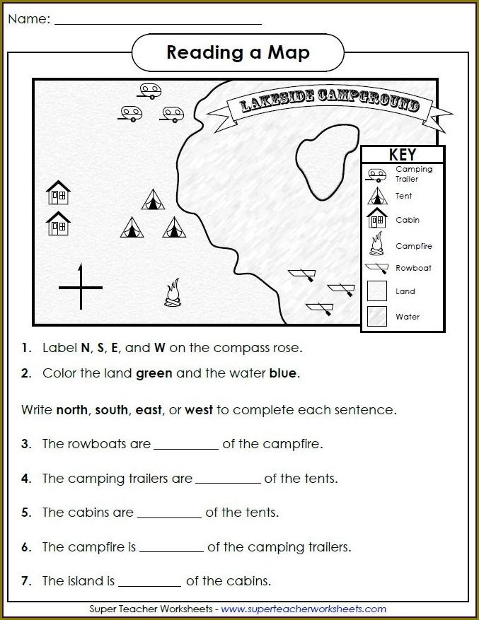 Skills Worksheet Map Skills Land Use Answer Key