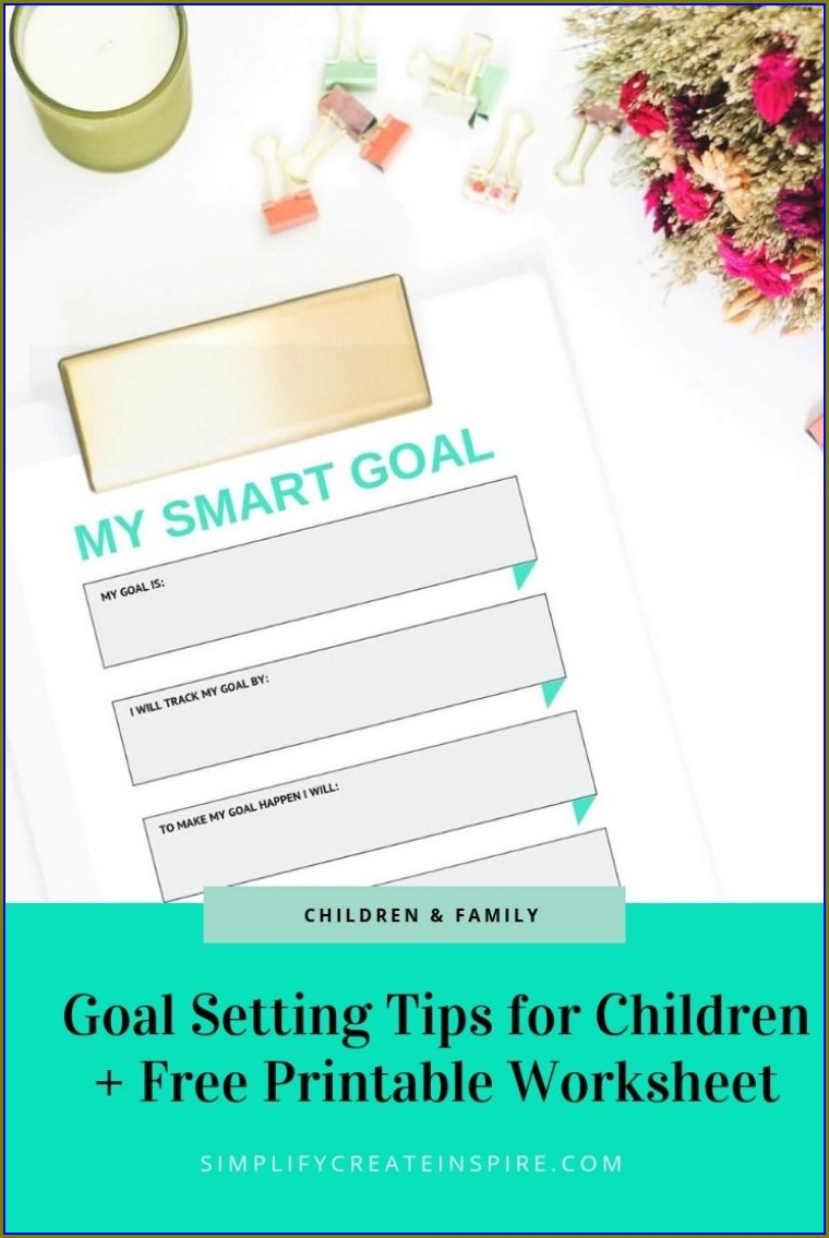 Smart Goal Setting Worksheet For Kids