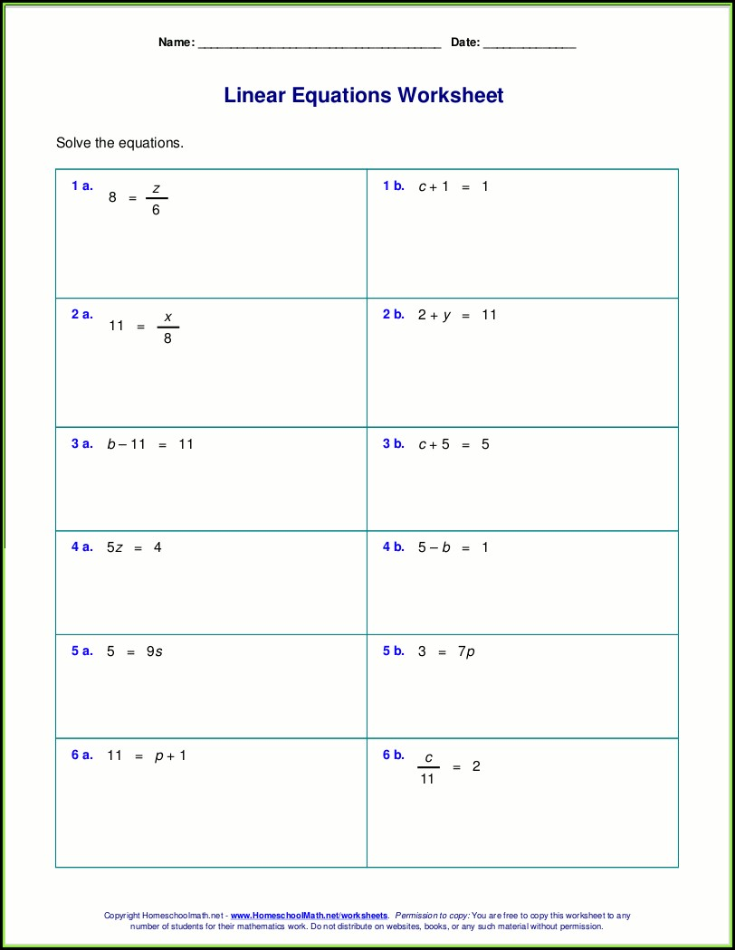 Solving Inequalities Worksheet Pdf One Step