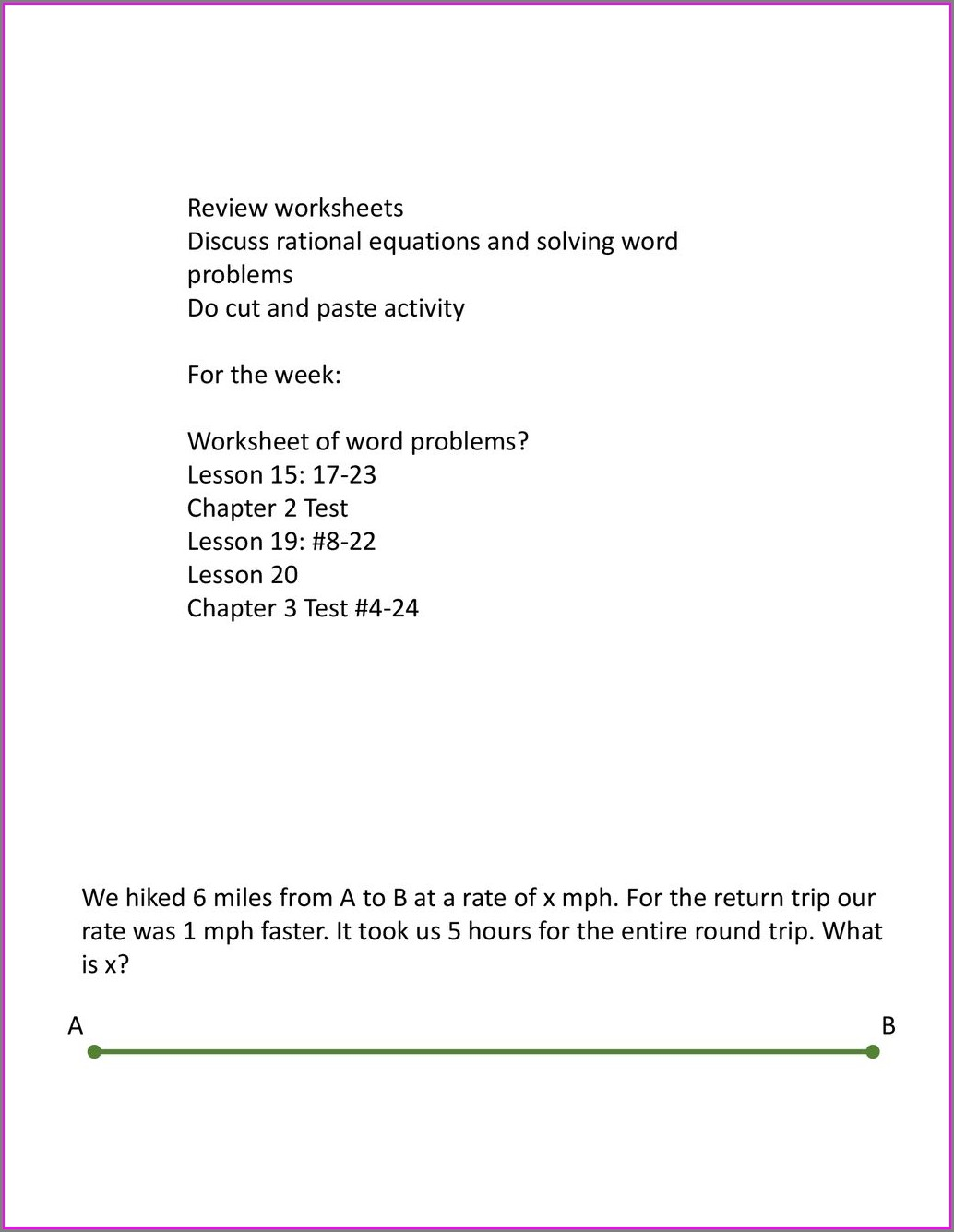 Solving Word Equations Worksheets