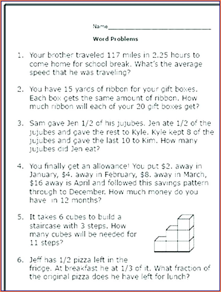 Speed Word Problems Worksheet